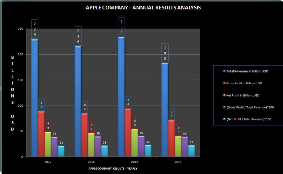 APPLE COMPANY - ANNUAL RESULTS - CHART